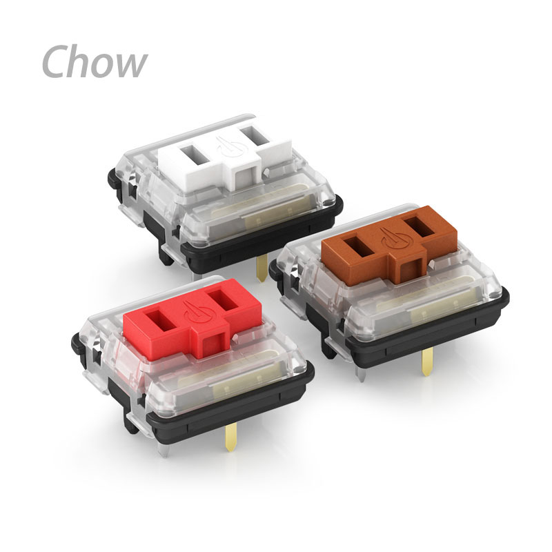 Kailh 1350 Chocolate Low Profile Mechanical Keyboard Switches