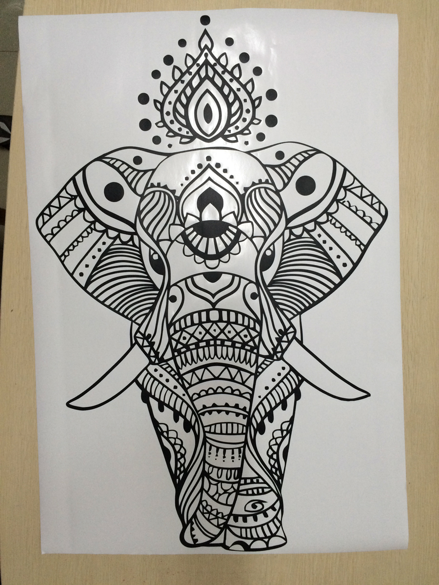 Psychedelic Elephant Wall Sticker