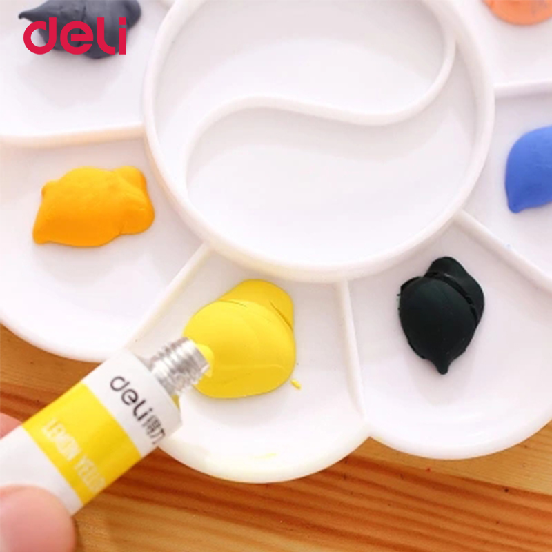Deli 12/18/24 colors acrylic paints for school kid art supplies water resistance professional drawing set stationery watercolors автомобильное зарядное устройство interstep samsung s20 pin black