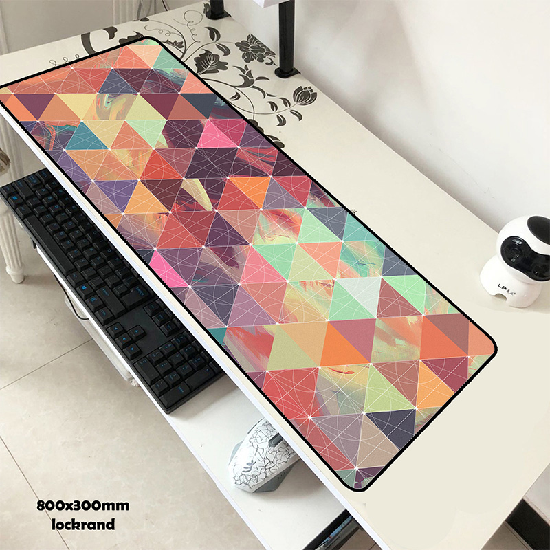 Geometric Mouse Pad Gel 80x30cm Pad To Mouse Locrkand  Computer Mousepad Gaming Mousepad Gamer To Laptop Customized Mouse Mats