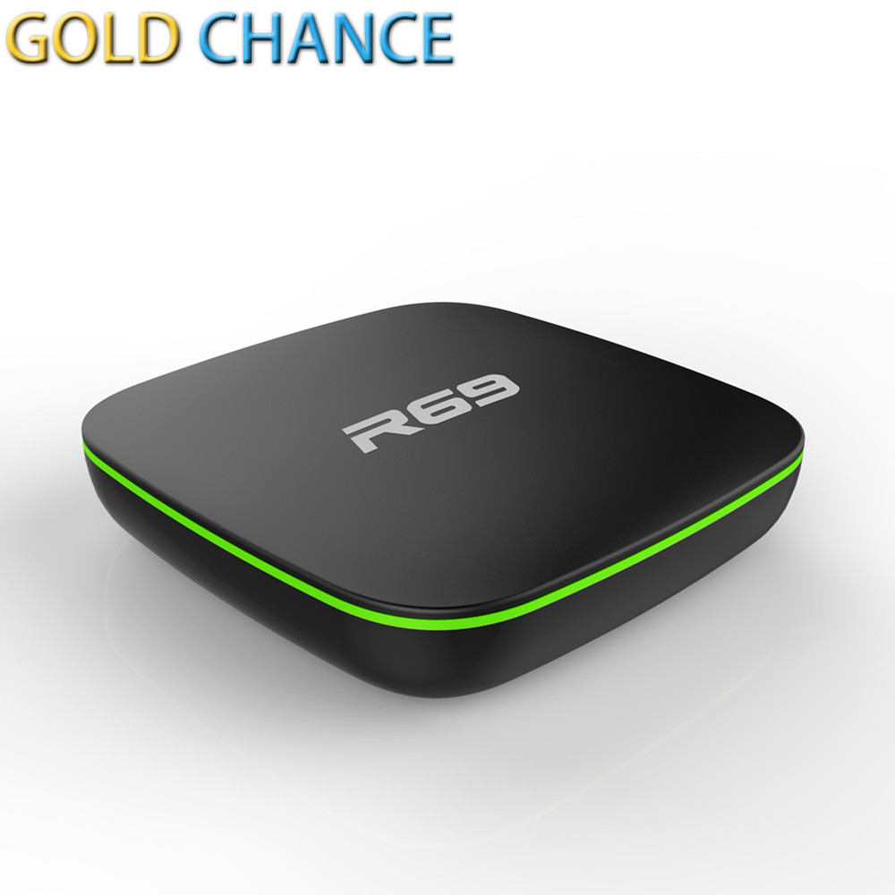 5 UNIDS/LOTE R69 Android 4.4 TV Box DDRIII 1 GB + 8 GB allwinner H2 Quad-Core (1
