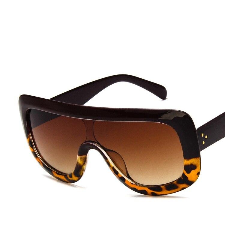 Oversized Sunglasses Women Vintage Big Frame One Piece Sunglasses Retro Brand Designer Men Sun Glasses Googles Lunette De Soleil