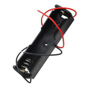 HAILANGNIAO nuevo 18650 caja de soporte de batería negro con cable de plomo 3,7 V Clip 5 uds alta calidad
