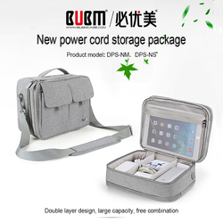 BUBM Double Layer Electronics Organizer Travel Cable Cord Shoulder Bag Electronics Accessories Storage Bag Gadget Gear Cases