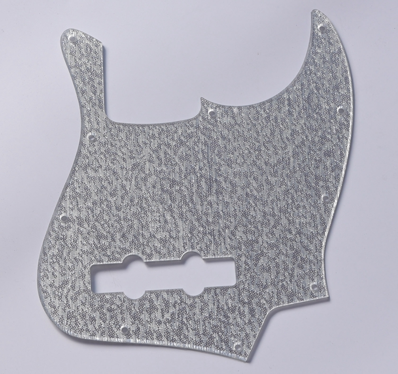 Silver Sparkle Plastic Jazz J Bass Pickguard Scratch Plate for US Mexican Fender