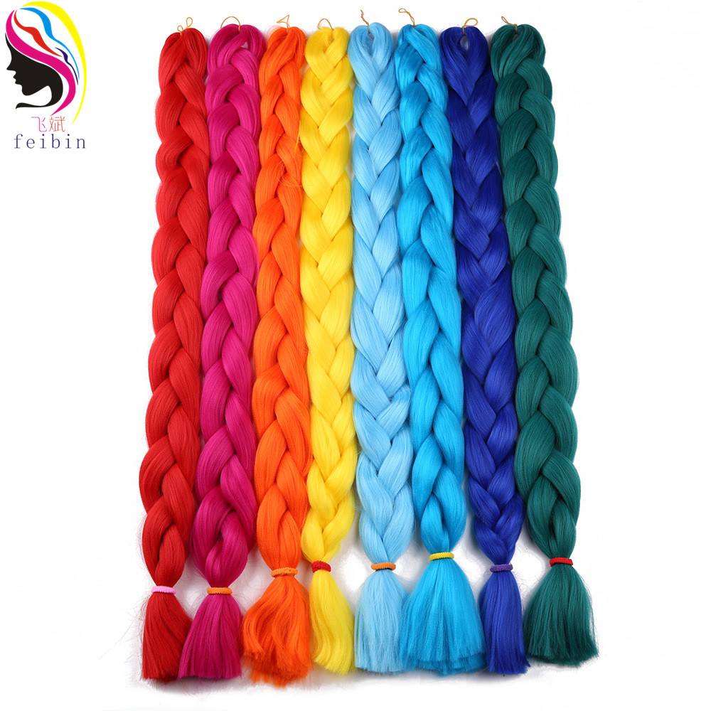 Hair Extensions & Wigs Frugal Feibin Twist Crochet Jumbo Braids Hair Extensions Kanekalon Synthetic Braiding Hair 165g 41inches 104cm Delicacies Loved By All