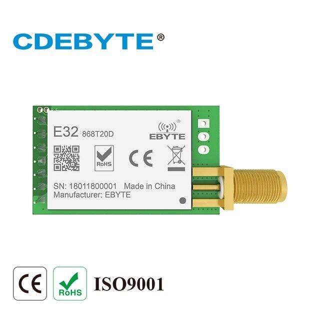 E32-868T20D Lora Dài Phạm Vi UART SX1276 868 mhz 100 mw SMA Antenna Iốt uhf Thu Phát Không Dây Transmitter Receiver Mô-đun
