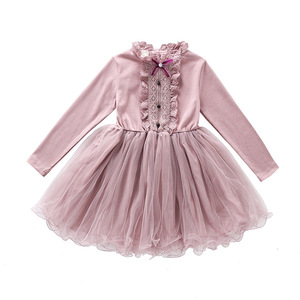 Image 5 - New 2019 Teen Girls Dresses for Party and Wedding Long Sleeves Lace Princess Clothes Birthday Party Costumes Children Clothing