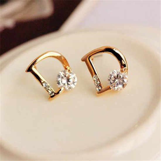 ... EH403 luxury brand New 2018 jewelry small letter D designer flowers  brincos bijoux bijouterie earrings for ... 9cdbc3f35bf6