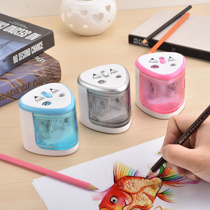 Electric Pencil Sharpener Two Holes Electronic Pencil Sharpener For Home Office School Stationery SuppliesElectric Pencil Sharpener Two Holes Electronic Pencil Sharpener For Home Office School Stationery Supplies