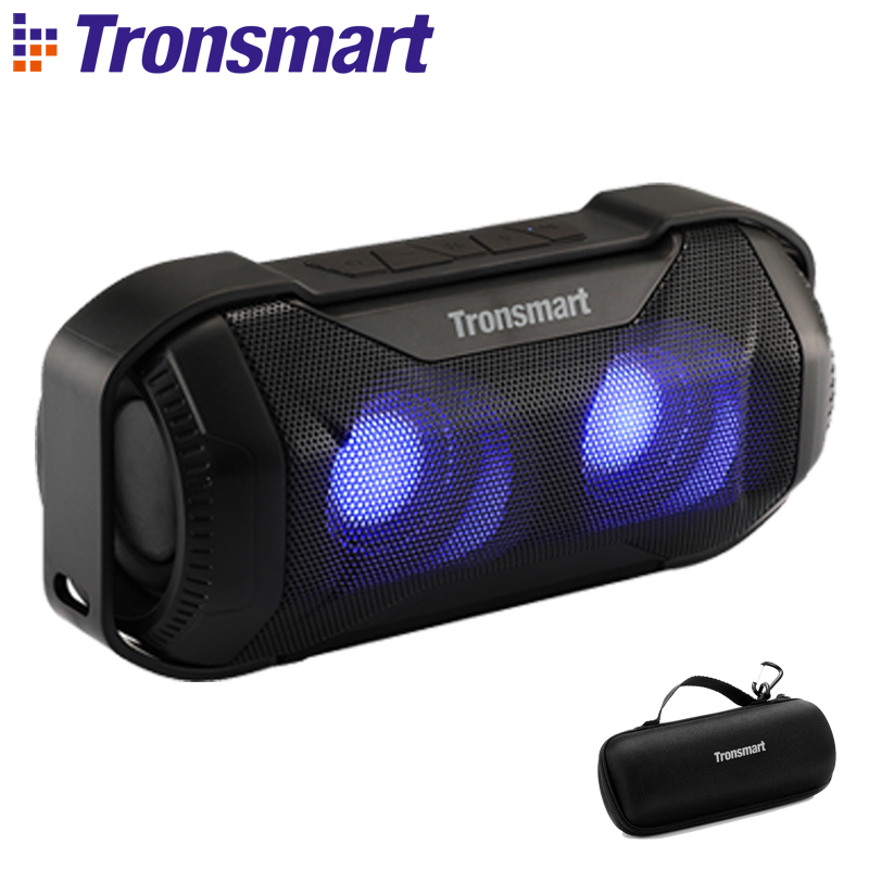 Tronsmart Blaze Bluetooth Speaker 10W IPX56 Column Waterproof Speaker with Superior Bass LED Lights for bicycle