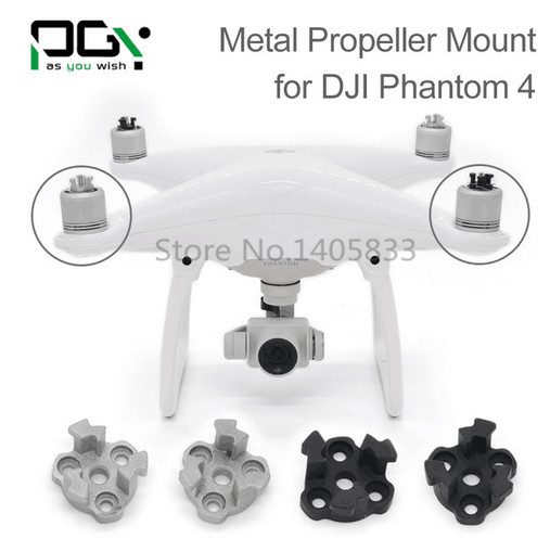4pcs PGY DJI phantom 4 Metal Propeller Bracket Mount for Phantom4 Silve black Holder Adapter motor connector drone parts