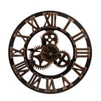 European Silent Wooden Modern Design Decorative Hanging Wall Clock Watches Decor