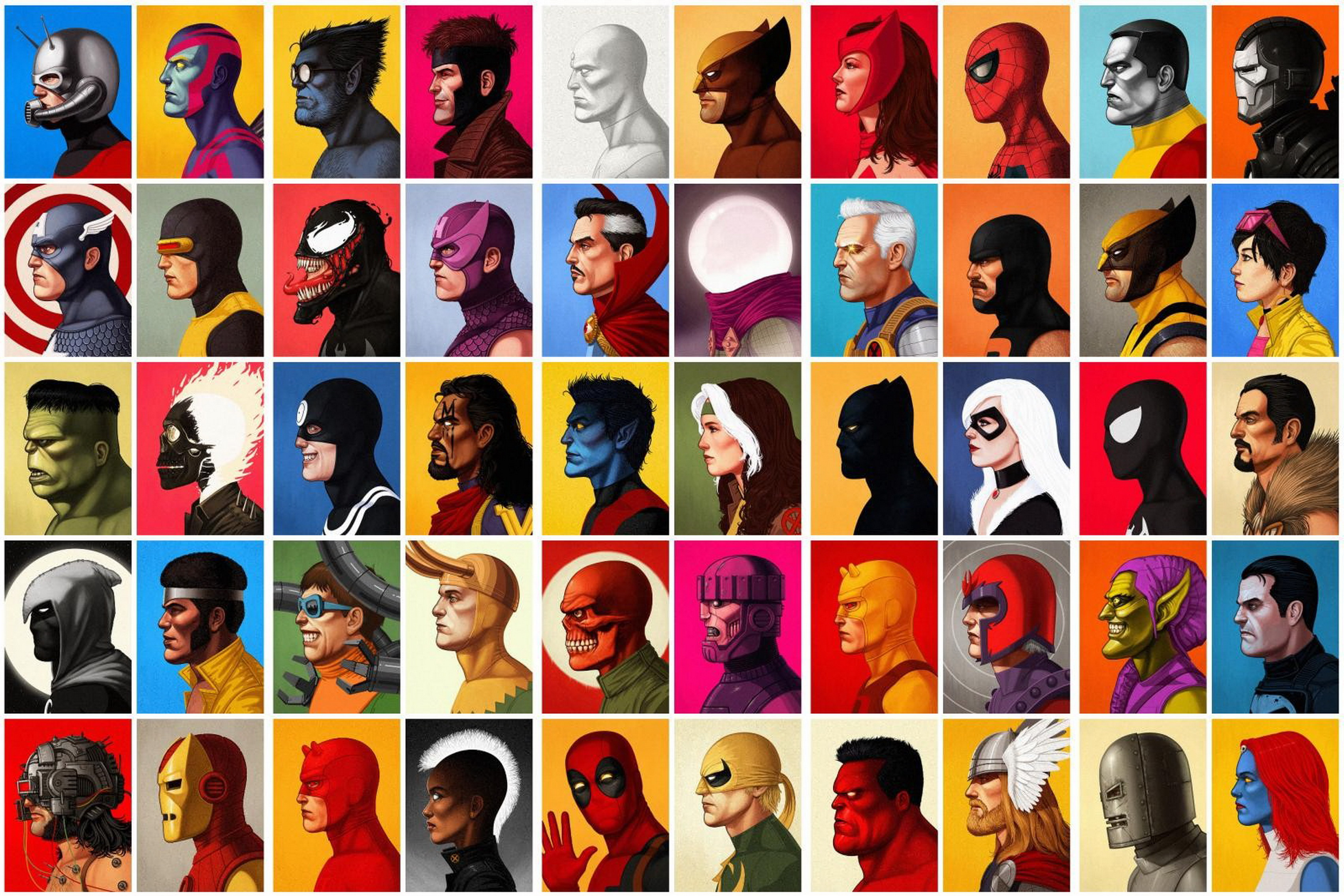 Home decoration comics Marvel Silk Fabric Poster Print DM278 image