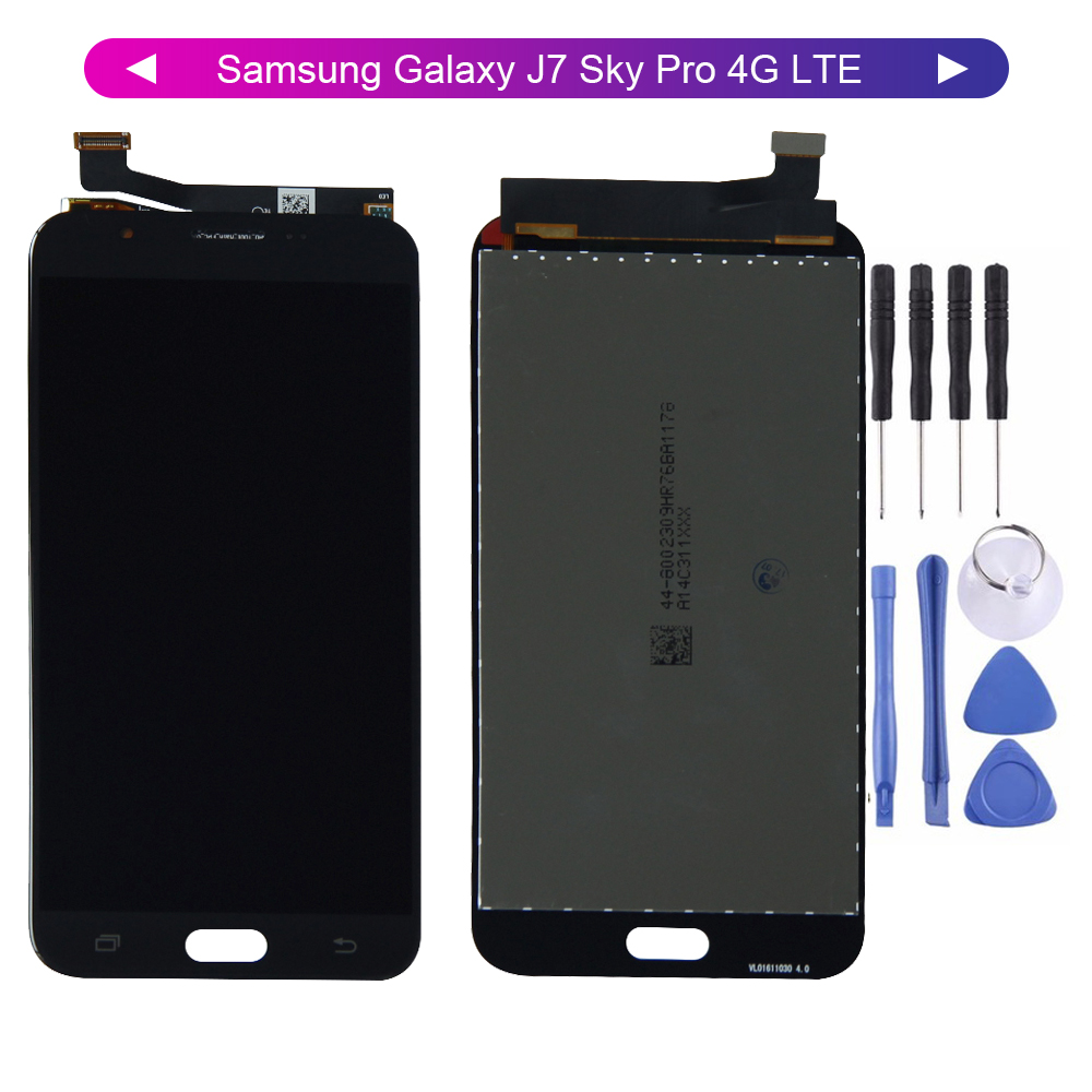 100% Test AMOLED For Samsung-Galaxy <font><b>J7</b></font> Sky <font><b>Pro</b></font> J727 2017 J727A J727P J727V Display Touch <font><b>Screen</b></font> Digitizer Assembly <font><b>Replacement</b></font> image