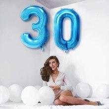 Ballons à hélium avec chiffres en aluminium, 2 pièces, 40 pouces, or Rose, 18 20 21 30 50 ans, boules à Air numériques, fournitures de fête d'anniversaire pour adultes, décor