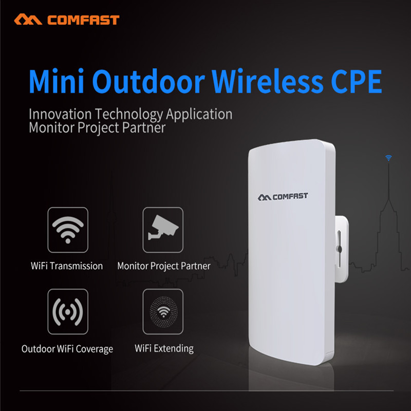 New! Comfast 300Mbps mini outdoor wireless cpe with 11dbi Antena wi-fi wireless router long range CPE 2.4G or 5G network bridge