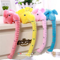 Free shipping 2pcs Colorful Elephants plush toy Kids height measure 25cm Ruler home decoration warm stuffed animals gifts