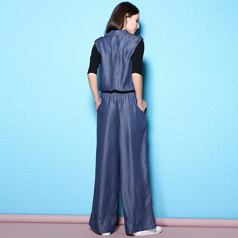 Salopette Lâche Denim Twinset Nw17b1095 1 Automne Femmes Façonné Cordon De Blue Combinaisons Tencel Taille 7YdTqvdW8