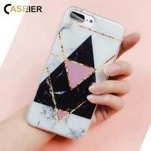 CASEIER Phone Case For iPhone 7 8 Plus Luxury Marble Stone Silicone Cases For iPhone X 5 5s SE 6 6S Plus Capinha Coque Funda чехол обложка iphone 6s plus silicone case stone mkxn2zm a