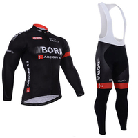 New 2017 Bora Cycling Jersey Set Long Sleeve 9d Gel Padded Sets Bike Clothing MTB Protective