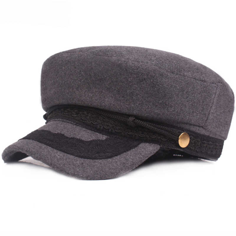 96e847d3 HT1966 Men Women Flat Army Cap Ladies Military Hat Artist Painter Visor Cap  Wool Beret Hat