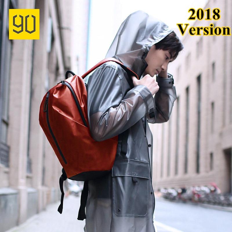 Xiaomi 90FUN 2018 All Weather Functional Backpack Mochila Water Resistant Backpack Women Men Bagpack 14 Laptop Upgraded Version 2018 xiaomi 90fun all weather lightweight backpack water resistant 18l school daypack 14 inch laptop bag kanken for men women
