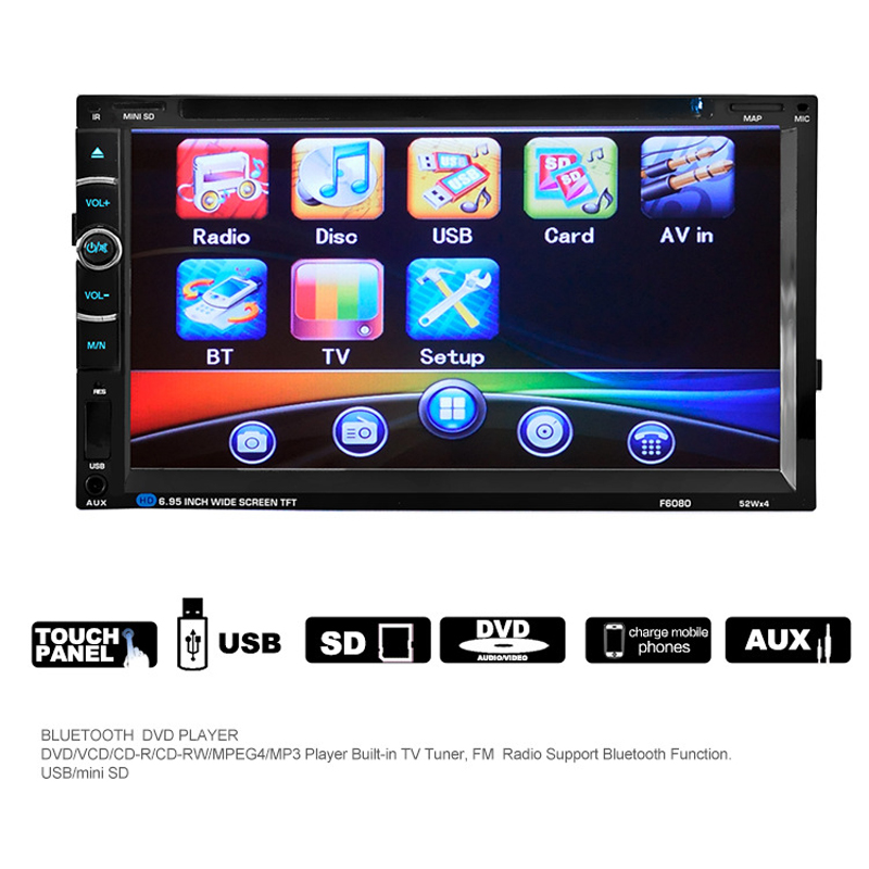 quidux f6080 6 95 inch double din car dvd player universal car audio rh aliexpress com Insignia TV DVD Manuals Service Manual DVD