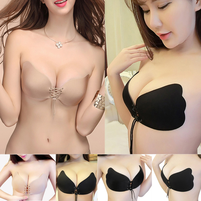 5192c3035ed66 New Night Party Deep-v Push Up Bra Butterfly Style Invisible Strapless  Bralette Sexy Drawstring Design Bras