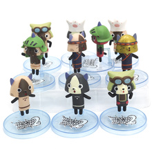 Monster Hunter World Cat Warrior Felynes Monsters PVC Models Japan Anime Action Figure Collections Toy Gifts 10 Pcs/set 100% original bandai gashapon pvc toy figure 05 full set of 5 pcs from japan anime kamen rider