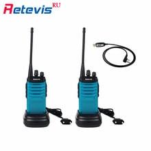 2pcs 5W Walkie Talkie Set+Programming Cable Retevis RT7 16CH UHF 400-470MHz Handy Two Way Radio FM Radio Scanner Walkie-Talkie