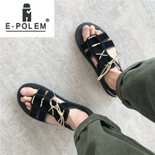New Casual Men Sandals Comfortable Summer Shoes lace-up Soft Sandals Outdoor Beach flat fashion shoes new hot women flat shoes elasticity bohemia leisure lady sandals peep toe outdoor shoes 17mar13