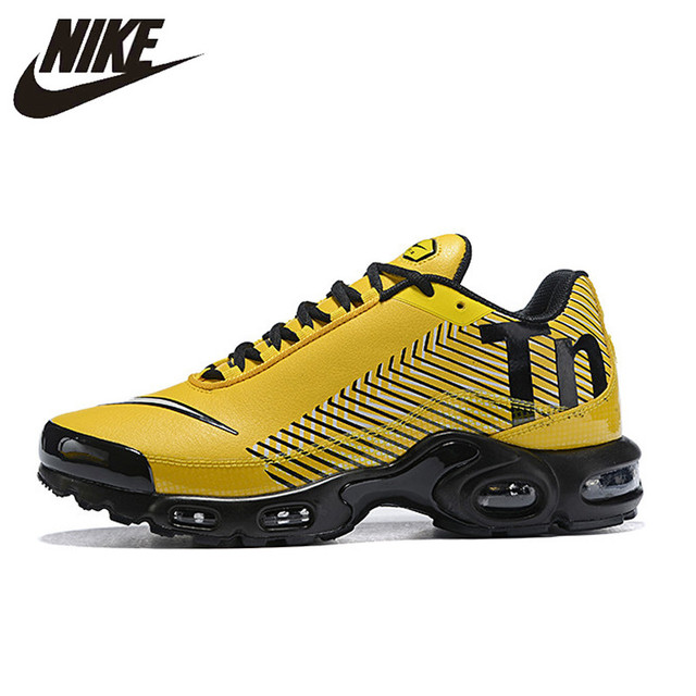 Original NIKE AIR MAX PLUS TN Men's Breathable Running Shoes Sports Sneakers Trainers outdoor sports shoes AQ0243 001