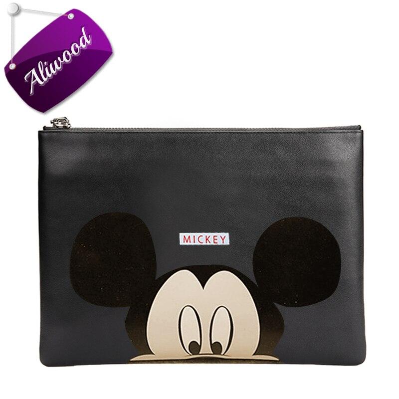 Hello Kitty Women Messenger Bags Minnie Mickey Cartoon Printing Envelope Bag PU Leather Handbags Shoulder Bags Bolsas Feminina hello kitty women s hello cartoon print short pajama set