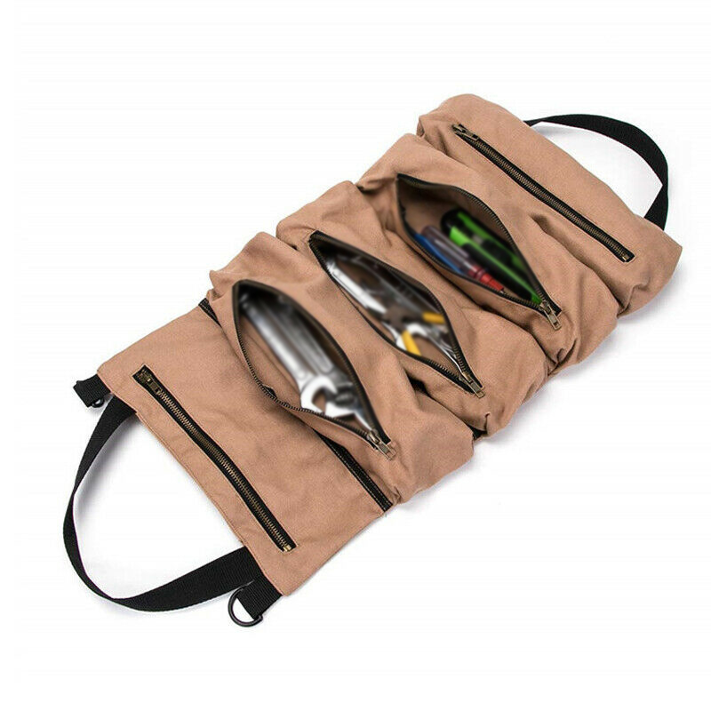 Portable Car Seat Back Storage Tool Roll Pliers Screwdriver Spanner Pouch Bag(China)