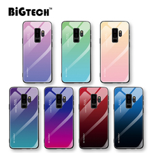 Beauty Gradient Color Glass Case for Samsung Galaxy S10e S10 S9 S8 J4 J6 Plus Cover