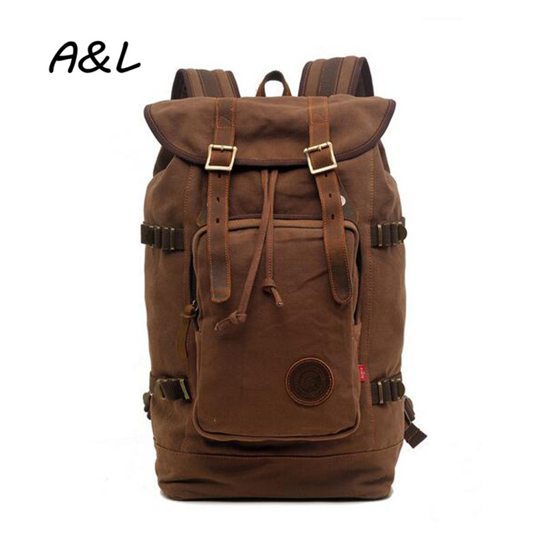 Men Backpack British Style Retro Leisure Canvas Bag Women Large Capacity Fashion Casual Travel Camping Backpack Laptop Bag A0085 personality retro men and women fashion large travel bag casual canvas handbag