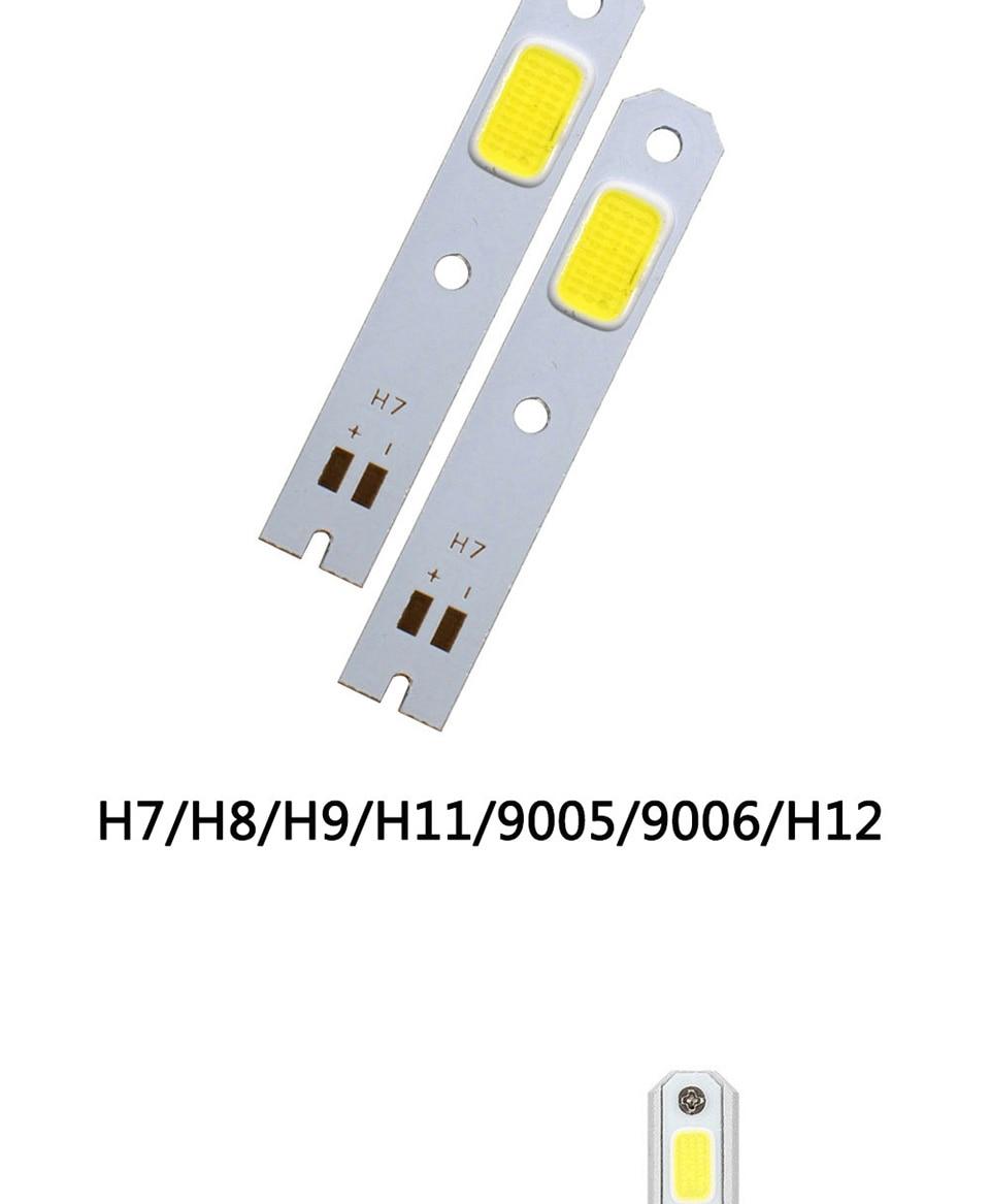 car headlight light source s2 cob light chip on board (4)