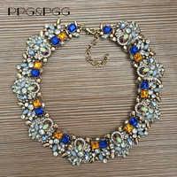 Große Kragen Halskette Für Frauen Luxus Voller Kristall Strass Halskette Frau Marke Aussage Große Halsband Halskette Maxi Schmuck