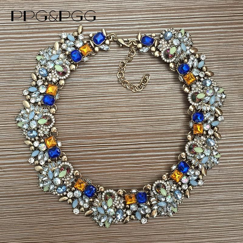 PPG & PGG сәнді маркасы Bijoux Rhinestone Choker Collar - Сәндік зергерлік бұйымдар - фото 3
