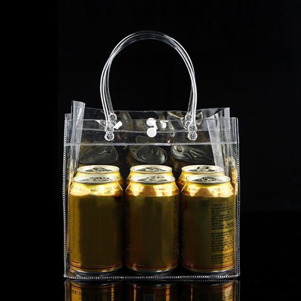 Clear Tote Shopping Bag Friendly Purse Transparent Handbag PVC Plastic Pouch Portable Food Packaging Easy To Carry Fashion
