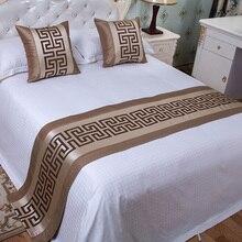 Китайский стиль, модная Высококачественная кровать, флаг, отель буфет, стол, Декор для дома, гостиной, свадебной комнаты, наволочка