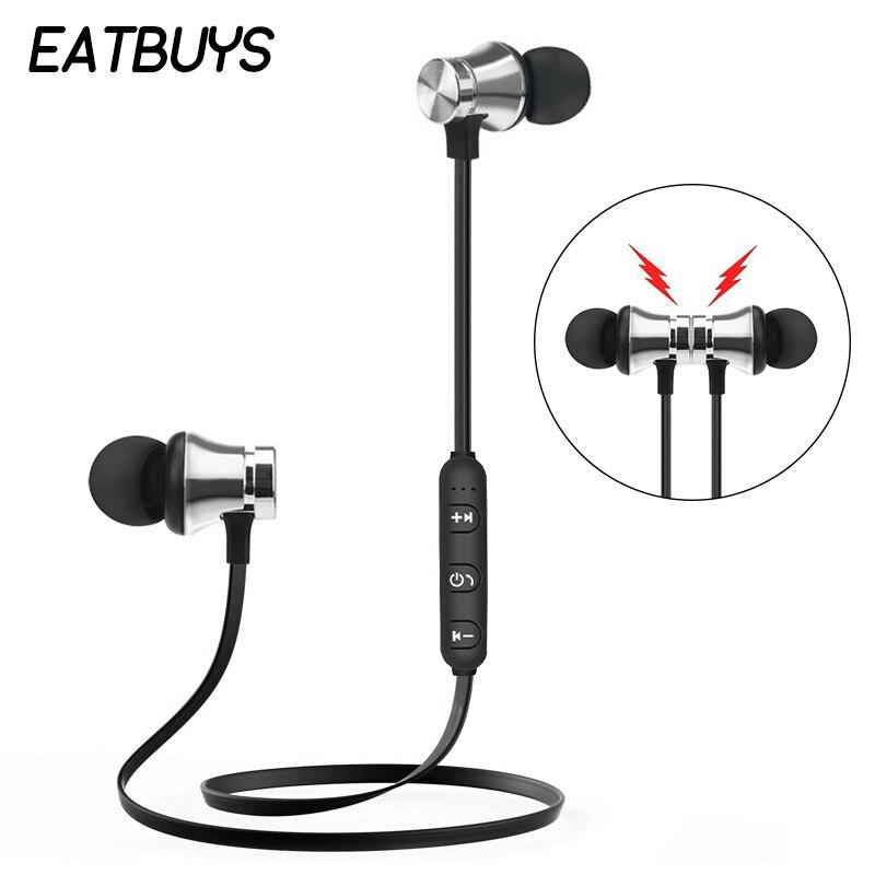 XT-11 Magnetic Attraction Bluetooth Earphone Stereo Earbuds Handsfree Sport Wireless Headphone Headset With Mic For Phone magnetic attraction bluetooth earphone headset waterproof sports 4.2