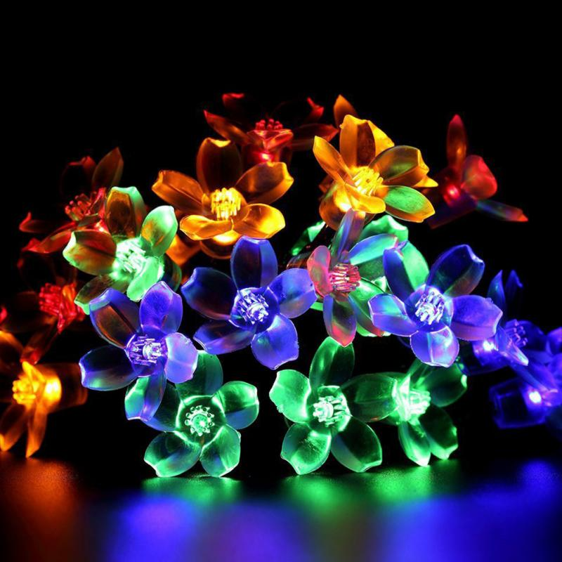 Solar Lamps 5M 50LEDs Crystal Ball Colorful Fairy Light Garden Garland Patio  Party Wedding Christmas Hanging Decoration Lights