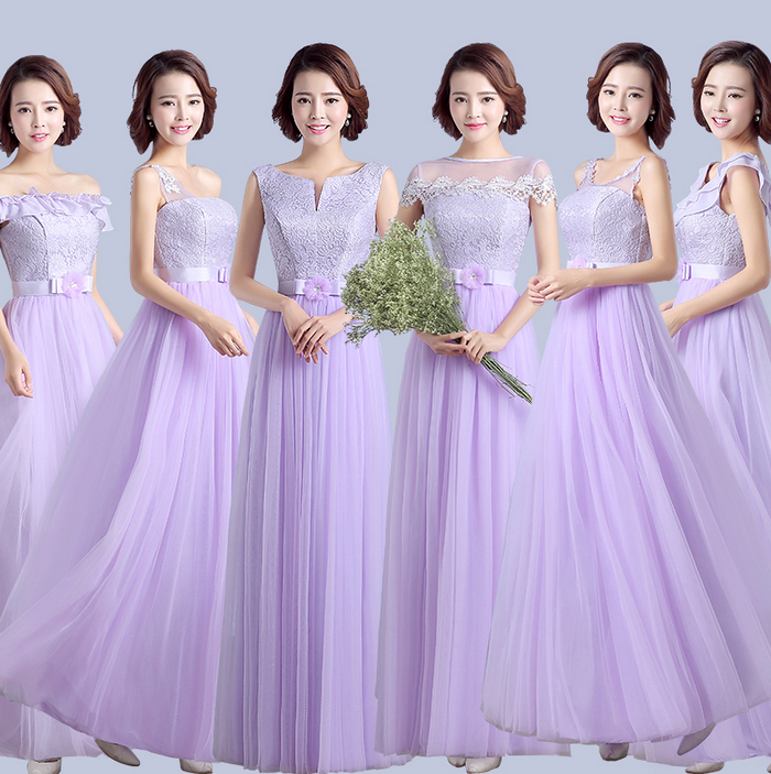 Lavender lady bridesmaid beautiful bridemaids dresses for Purple dresses for wedding guests