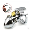 Adjustable ring size stainless steel male chastity with penis lock SM torture cb chastity jj bird cock cage fun SEX TOYS CB019
