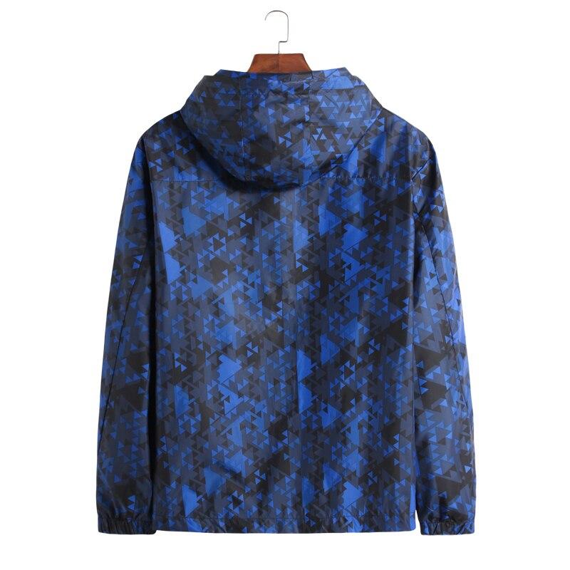 Con blue Black Tamaño Primavera Hombres Delgada Super Windbreaker Nueva Cremallera Gran Masculina Chaqueta Bombardero Otoño Outwear 7xl Capucha 8xl qxUfOw