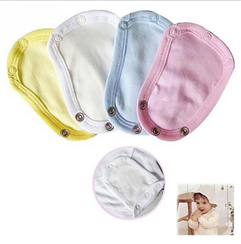 1PCS Baby Romper Crotch Extenter Child One Piece Bodysuit Extender Baby Care 13*9cm 4 Colors