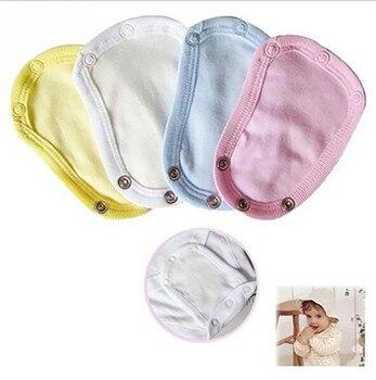 1PCS Baby Romper Crotch Extenter Child One Piece Bodysuit Extender Care 13*9cm 4 Colors
