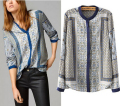 Blusas Femininas New Massimo Women Shirts Long Sleeve Blouse Casual Totem Print Shirt Ladies Puls Size Tops